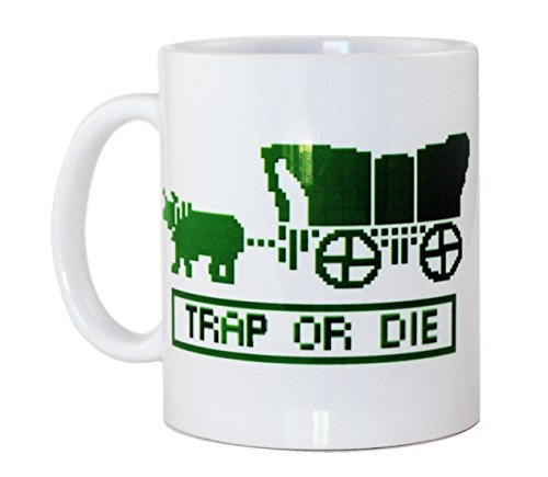 Oregon Trail 'Trap Or Die' Coffee Or Tea Mug