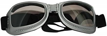 Bikestuff B-EG10 Wide Frame Style Foldable Biking Goggles (Clear)