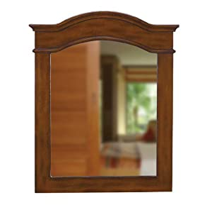 Belle foret bf80059 single wood frame bathroom mirror dark cherry home improvement for Cherry wood framed bathroom mirrors