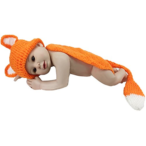 Jastore® Photography Prop Baby Fox Tail Costume Crochet Knitted Hat Diaper