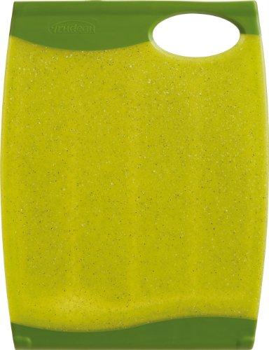 Trudeau Wave 10 by 13-Inch Reversible Cutting Board, Green Granite