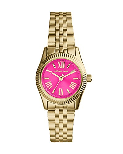 Michael Kors Mini Lexington Pink Dial Gold-tone Ladies Watch MK3270