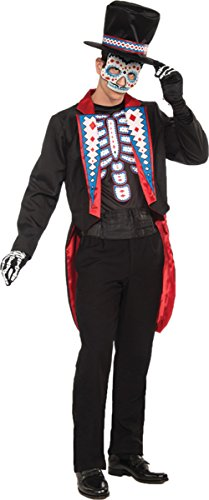 Morris Costumes Men's DAY OF THE DEAD MALE ADULT, One size