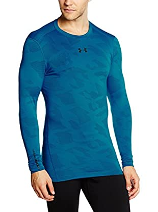 Under Armour Camiseta Manga Larga Ua Cg Armour Jacquard Crew (Azul)