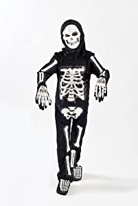 Skeleton Costume for Boys Kids Light up Size M (5-7) L (6-9) (6-7) ((6-7))