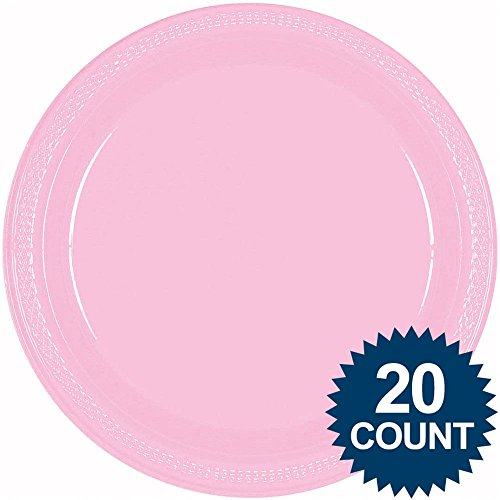 20 Ct Pink 10 1/4 In. Plastic Dinner Plate