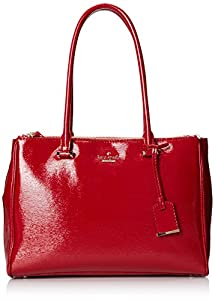 kate spade new york Cedar Street Patent Small Reena Shoulder Bag,Dynasty Red,One Size