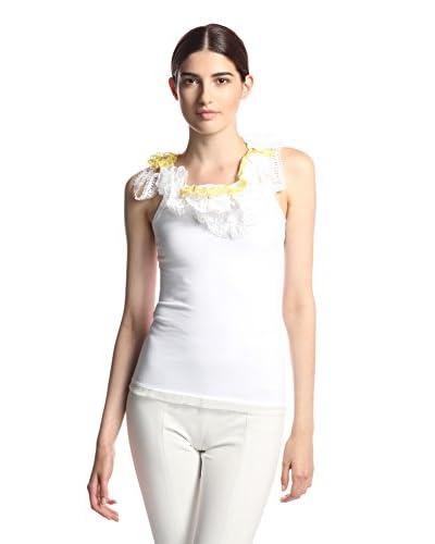 Nina Ricci Women's Sleeveless Top with Eyelet Detail