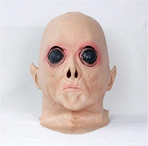 SPOD® Creepy Mask Latex Alien Big Eyes Mask for Cosplay Holloween Party