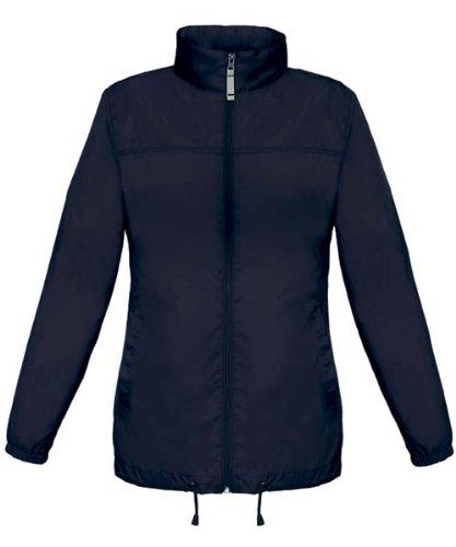 b c veste coupe vent imperm able femme taille l bleu marine navy sirocco ladies. Black Bedroom Furniture Sets. Home Design Ideas
