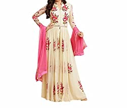 Krishna ECommerce Women's Salwar Suit Dress Material. (HONEYCREAM)