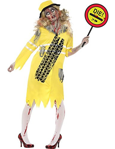 Smiffy's Women's Zombie Lollipop Lady Costume with Dress Hat and Lollipop Stick