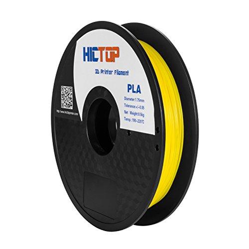 HICTOP 1,75 millimetri Universal 3D Printing PLA stampante 3D filamento - 0.5kg bobina (1,1 lbs) - precisione dimensionale +/- 0,05 millimetri (giallo)