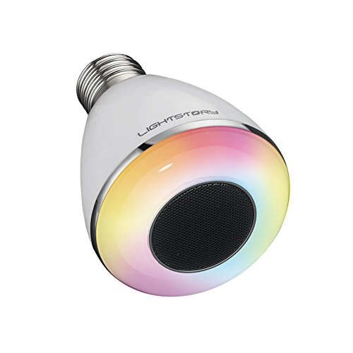 lightstory bluetooth light bulb e26 base 8w 6500k color