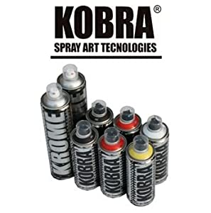 Cheap kobra aerosol spray paint sample pack 6 x 400ml cans 1 x 600ml big black can 1 x 600ml Cheap spray paint cans