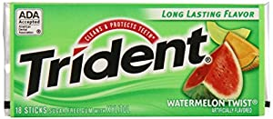Trident Gum, Watermelon Twist, 18-Stick Packs (Pack of 12)