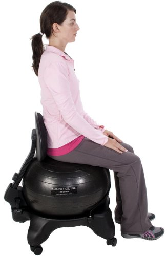 Isokinetics Inc Adjustable Back Exercise Ball Office