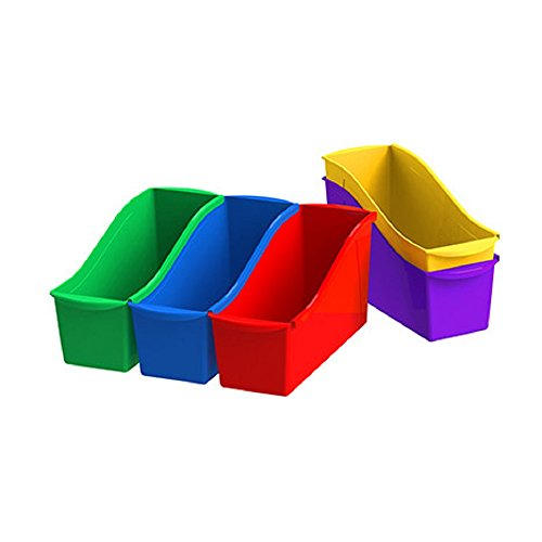 Storex Interlocking Book Bins Set of 5