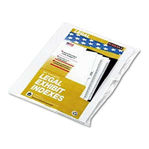 "Kleer-Fax Products - Kleer-Fax - 90000 Series Legal Exhibit Index Dividers, 1/26 Cut Tab, Title ""K"", 25/Pack - Sold As 1 Pack - Helvetica type, interchangeable with Allstate style dividers. - Alpha side tab laminated for extra-long life. -"