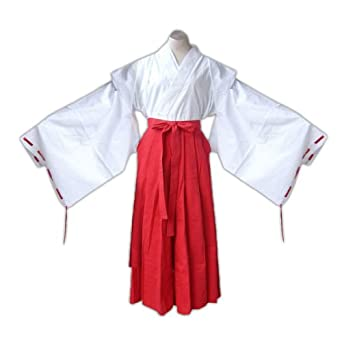 InuYasha Cosplay Costume - Kikyou Shrine Maiden Kid Small