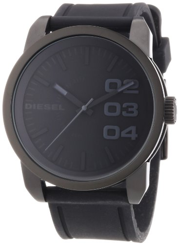 beseriet diesel dz1446 montre homme quartz analogique bracelet silicone noir. Black Bedroom Furniture Sets. Home Design Ideas