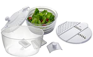 Big Boss Vegetable Grater and Salad Spinner, 8-Piece Set by Big Boss