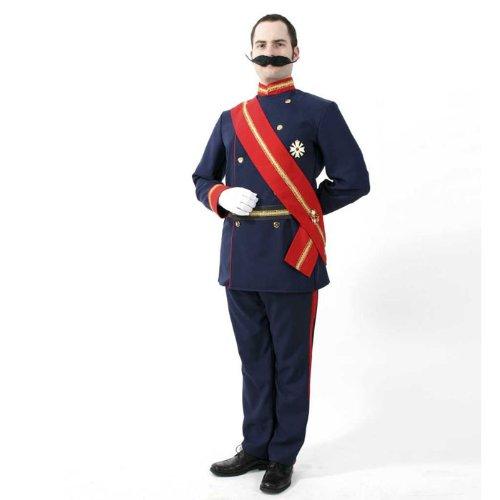 Kaiser Wilhelm Herrenkostüm 2tlg mit Schärpe + Gürtel Gr L