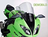 Double bubble screen Puig Kawasaki ZX-6R 98-99 dark smoke