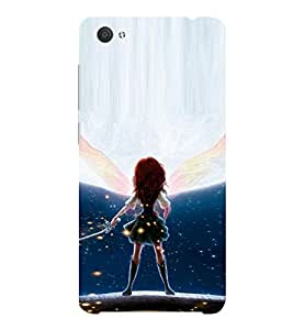 ifasho Girl with sword animated Back Case Cover for VIVO X5Pro