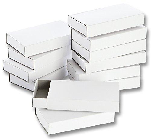 folia-2407-matchboxes-vierge-grand-lot-de-12-blanc