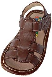 Open-Toe Sandal (Brown)