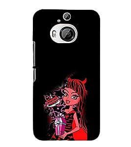 EPICCASE devil girl Mobile Back Case Cover For HTC One M9 Plus (Designer Case)