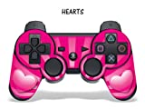 Protective Skin for Playstation 3 Remote Controller – Hearts Pink
