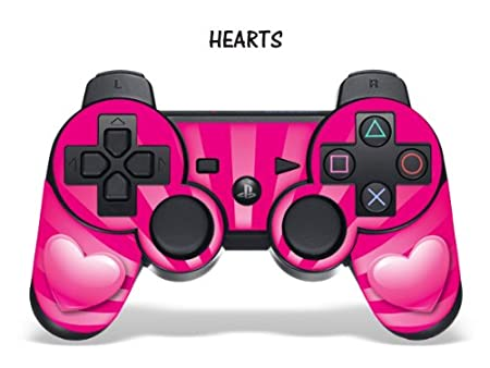 Protective Skin for Playstation 3 Remote Controller - Hearts Pink