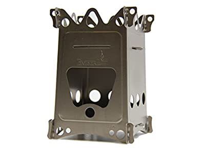 Emberlit Fireant,Titanium, Multi-fuel Backpacking Stove Great for Camping and Survival