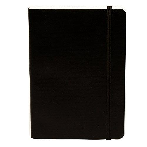 basicos-monsieur-10412-statue-de-couchee-souple-peau-notebook-8-200-feuilles-a-carreaux-avec-en-caou