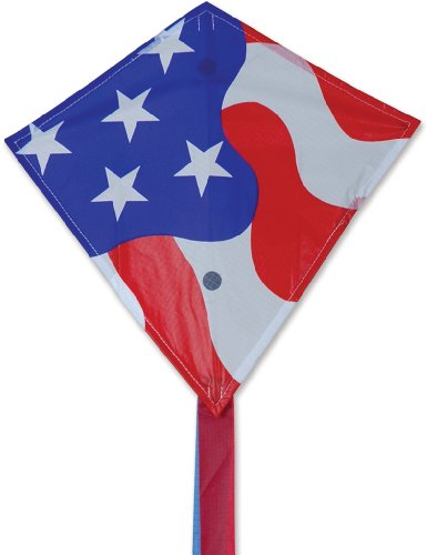 Premier 17269 Mini Diamond Kite with Fiberglass Frame, Patriotic