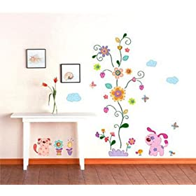 Colorful Vine Wall Sticker