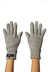 High Style Unisex All Fingers Texting Touchscreen Merino Cashmere Smart Gloves (01, HGrey, L/XL)
