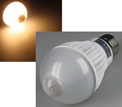 LED Glühlampe E27 ''PIR-5W'' warmweiß, 3000k, 320lm, 5W, mit Bewegungsmelder