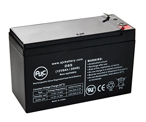 Universal Power UB1280 12V 8Ah Wheelchair Battery - This is an AJC Brand® Replacement (Universal Electronics Batteries compare prices)