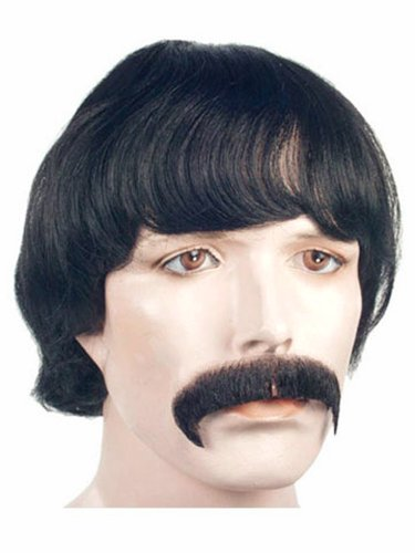 Costume Adventure Men's Deluxe Sonny Bono Wig and Mustache Costume Set
