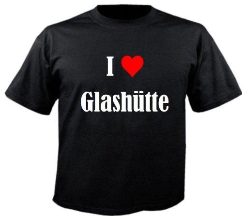 """Kinder T-Shirt """"I Love Glashütte""""Größe""""128""""Farbe""""Schwarz""""Druck""""Weiss"""