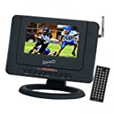 Supersonic SC-491 7 Portable TV With DVD Player, ATSC Tuner, USB, SD Card Reader & Rechargeable Battery- Thumbnail