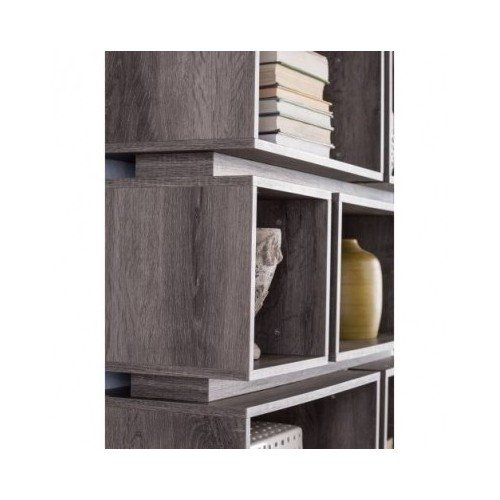 Furniture of America Cassidy Tiered Distressed Grey 10-Shelf Open Bookcase 2