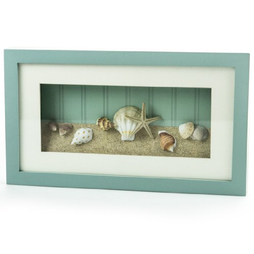 Beach Theme Home Decor Shadow Box Beach Gift: Shell Shadow Box : Wall Decor