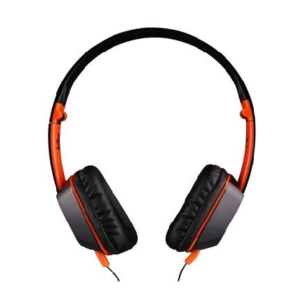 Andget Jullyroger M2 3.5Mm Stereo Headphone Music Headset With Microphone 40Mm Driver Foldable Black And Orange