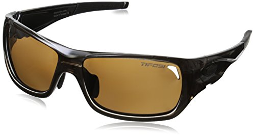 Tifosi Women's Duro 1030504750 Polarized Wrap Sunglasses, Crystal Brown, 62 mm