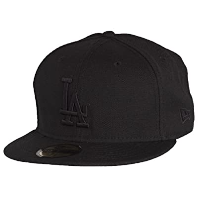 New Era 59FIFTY Black On Black Los Angeles Dodgers Cap