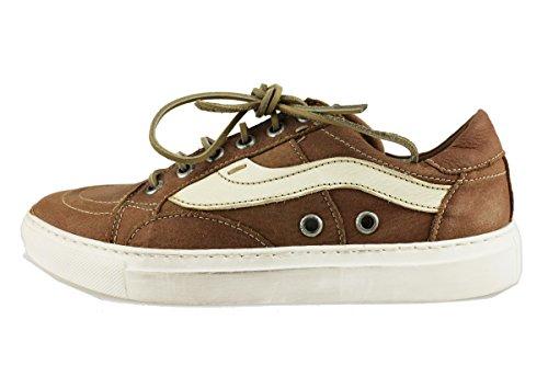 MANAS sneakers uomo 42 EU marrone pelle AH924